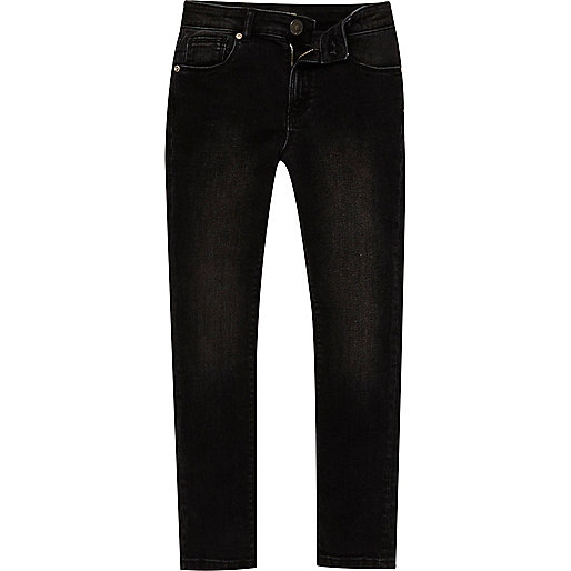 Boys washed black Sid skinny jeans