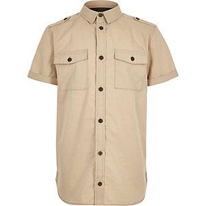 Boys beige utility shirt