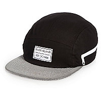 Boys black contrast panel cap