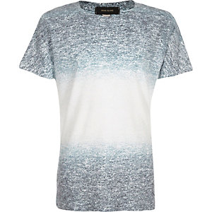 Boys blue faded texture t-shirt