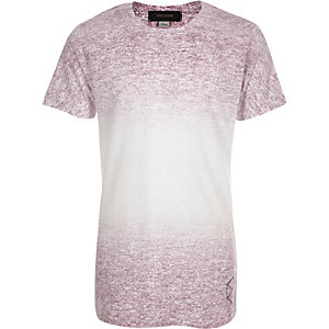 Boys pink faded texture t-shirt