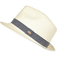 Boys white panama hat