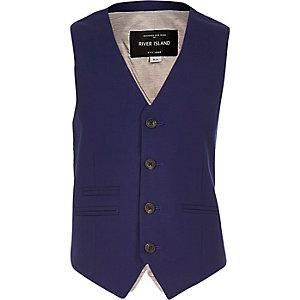 Boys blue waistcoat