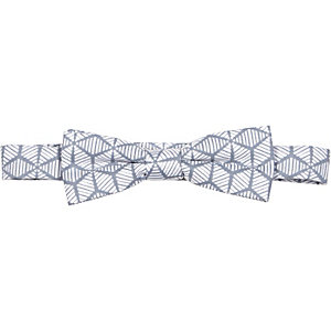 Boys grey geometric print bow tie