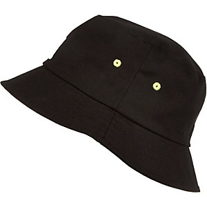 Boys black bucket hat