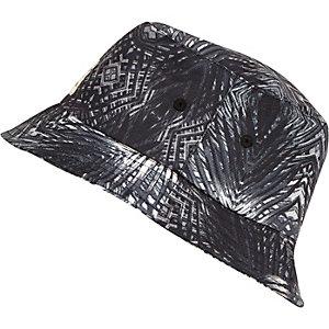 Boys black palm tree print bucket hat