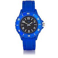 Boys blue rubber sporty watch