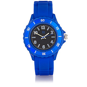 Blue rubber sporty watch