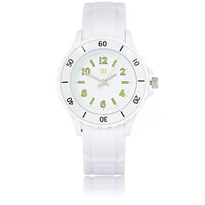White rubber sporty watch