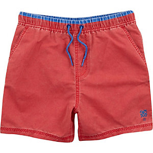 Boys red swim trunks