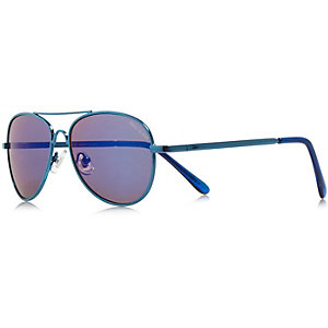 Boys blue aviator-style sunglasses
