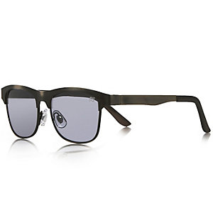 Boys silver gunmetal flat top sunglasses