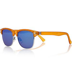 Boys orange retro sunglasses