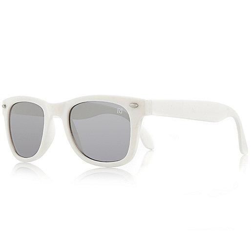 Boys white retro sunglasses