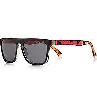 Boys red ombre retro sunglasses