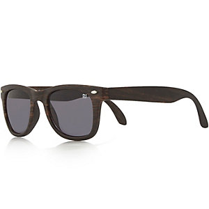 Boys brown retro sunglasses