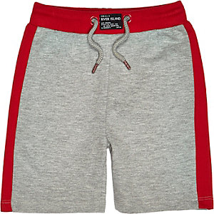 Mini boys grey red shorts