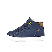 Marineblaue Hi-Tops