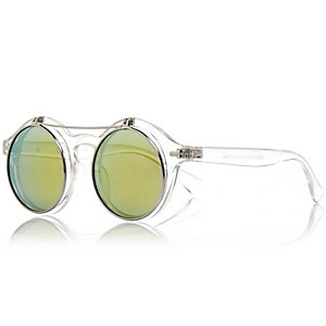 Boys white flip sunglasses