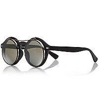 Boys black flip sunglasses