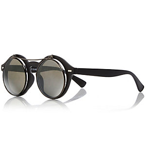 Boys black flip sunglasses