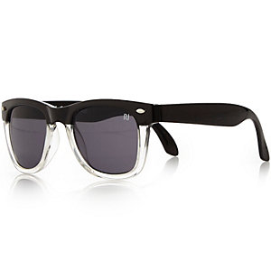 Boys black black retro sunglasses