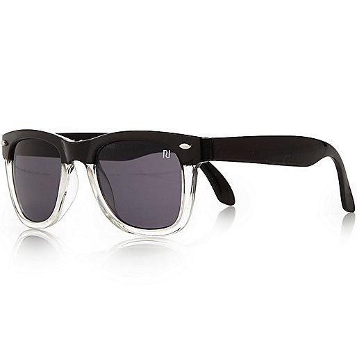 Boys black black retro sunglasses