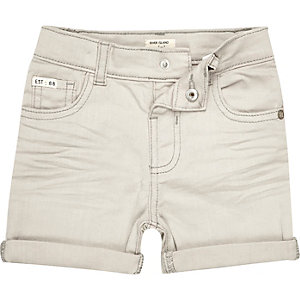 Mini boys ecru denim shorts