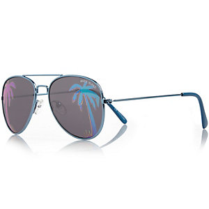 Boys silver tone hologram glasses