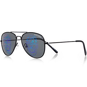 Boys black skull hologram glasses