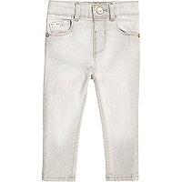 Hellgraue Skinny Jeans