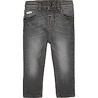 Mini boys grey skinny jeans