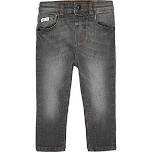 Mini boys grey skinny jeans