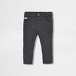 Mini boys dark grey skinny jeans
