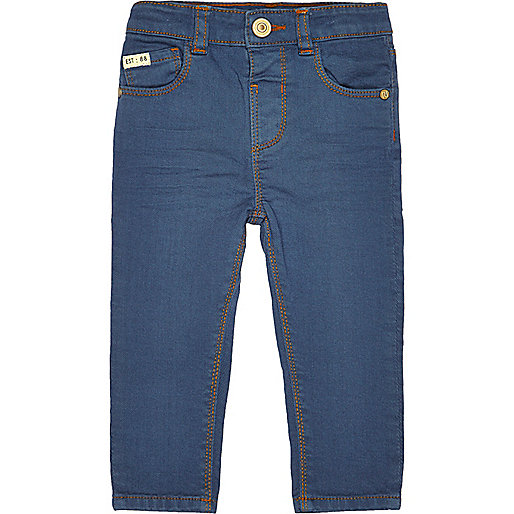 Mini boys blue '70s skinny jeans