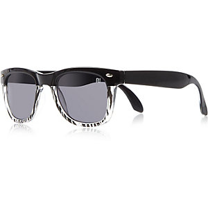 Boys black zebra retro sunglasses