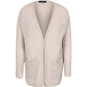 Girls grey slouchy cardigan