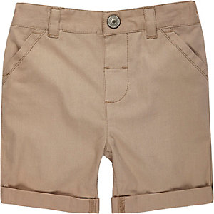Mini boys stone twill shorts