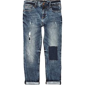 Boys blue distressed Dylan slim jeans