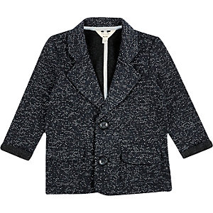 Mini boys textured blazer