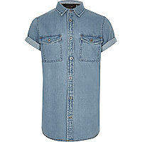 Boys light blue denim shirt