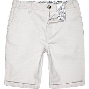 Boys white chino shorts