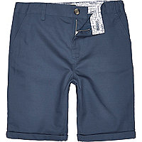 Boys navy chino shorts