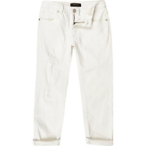 Boys white Dylan slim fit jeans