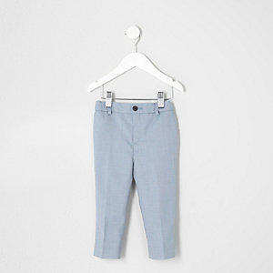 Mini boys light blue suit trousers