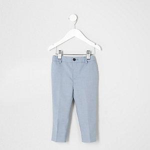 Pantalon de costume bleu clair pour mini garçon