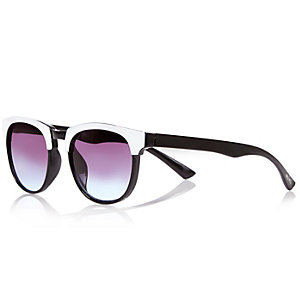 Mini boys white clubmaster-style sunglasses