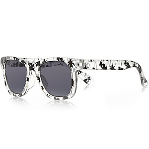 Mini boys black retro sunglasses