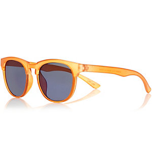 Mini boys orange flat top sunglasses