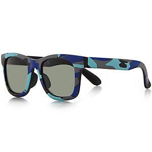 Mini boys blue camo retro glasses